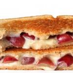 Sandwich de uvas y queso