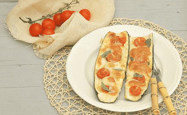 Calabacines rellenos con un toque italiano