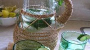Agua de hierbabuena y pepino