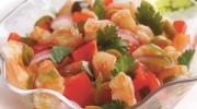 Ceviche de pescado con camarones