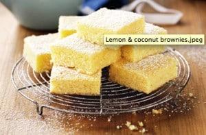 brownie de limón y coco