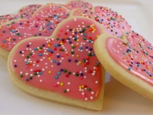 galletas de azucar para san valentin