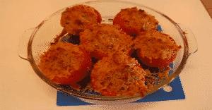 tomates con queso al horno