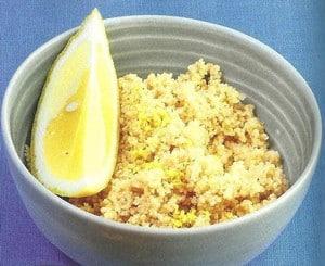 Couscous con limon y perejil