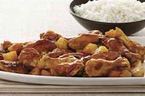 Alitas de pollo con piña