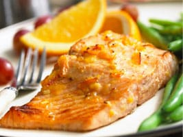 Salmón con salsa de Dijon