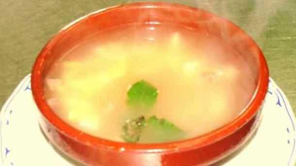 Sopa con Queso