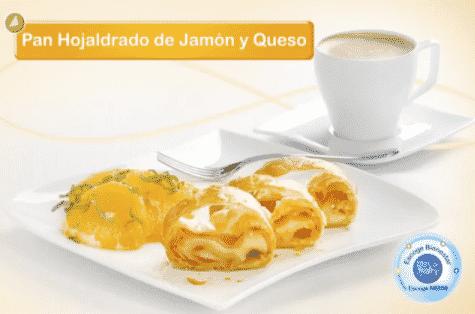 Pan Hojaldrado de Jamón y Queso