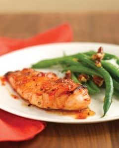 Pollo con un glaseado albaricoque picante