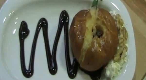 Manzanas Asadas con Frutos Secos