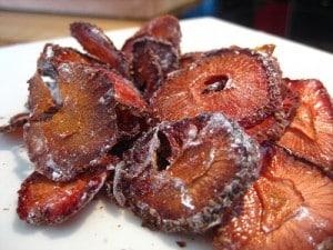 Fresas secas (Alternativa a las patatas fritas)