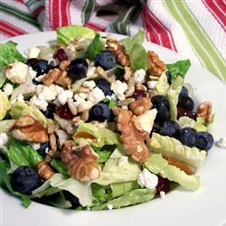Ensalada dulce,con nueces, quesos y frutas
