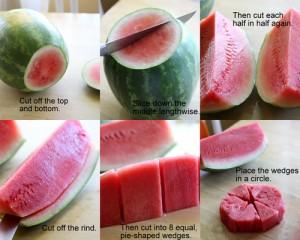 como cortar la sandia