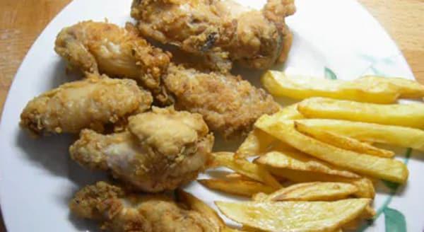 Pollo Marinado y Crujiente