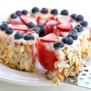 Tarta de Sandia, saludable.