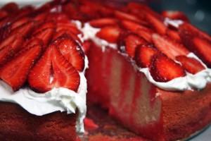 Pastel con gelatina