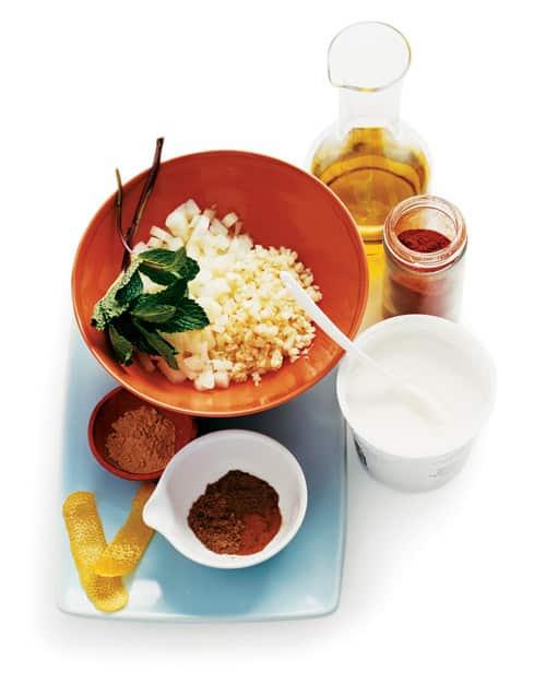 Adobo de yogur y especias para pollo