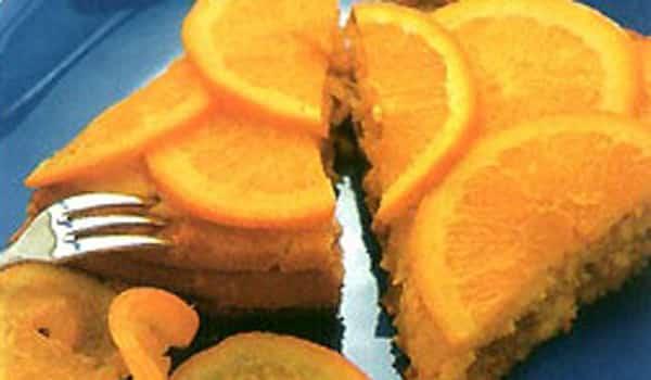 Pastel con Naranja