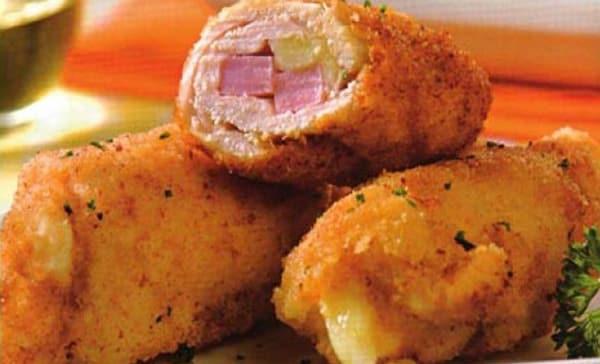 Rollitos de Pollo con Jamón y Queso