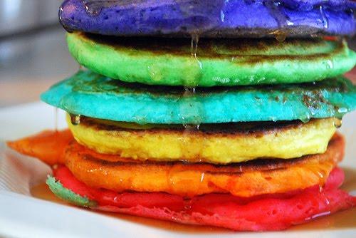 Tortitas americanas con un toque de color