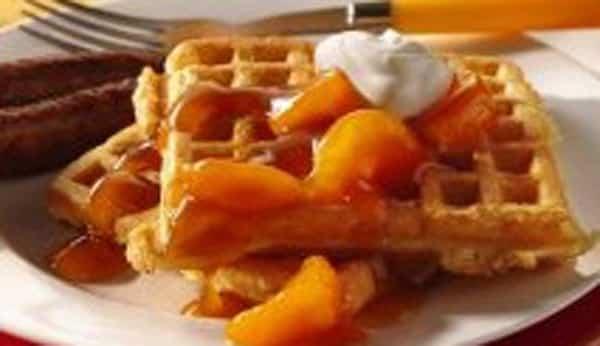 Waffles con Naranja
