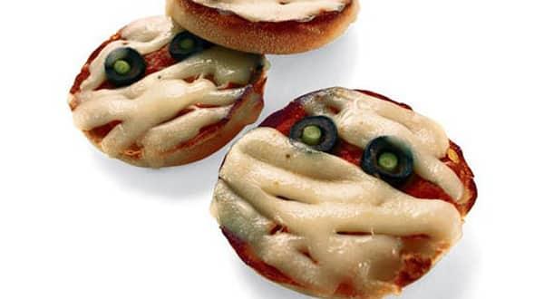 Halloween - Momias mini Pizza