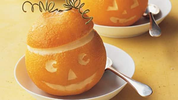 Halloween - Naranjas con helado