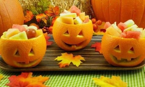 Ensalada de fruta, para Halloween