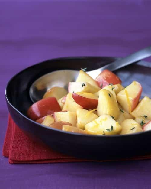 Manzanas asadas con tomillo