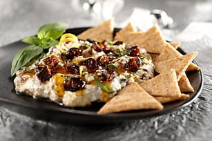 Dip de queso ricotta, con higos y miel