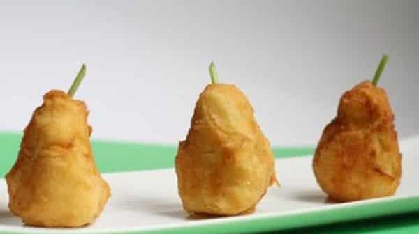 Croquetas de papas con huevos
