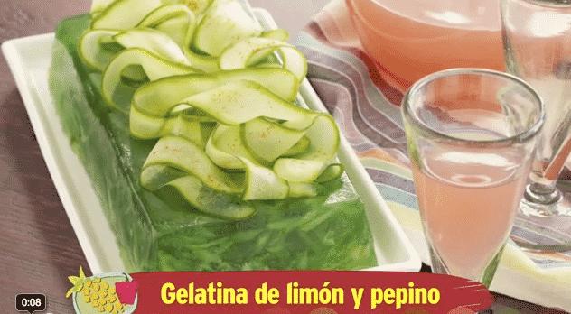 Gelatina de limón y pepino