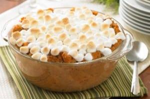 Puré de patata dulce con nubes