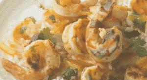 Camarones al chipotle con Naranja