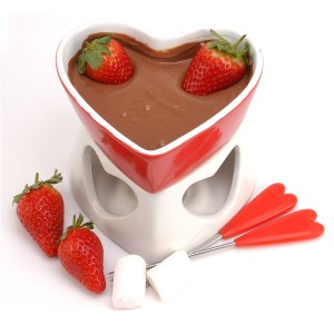 Fondue de chocolate con toque de canela