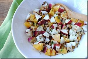 Ensalada de frutas y hinojo