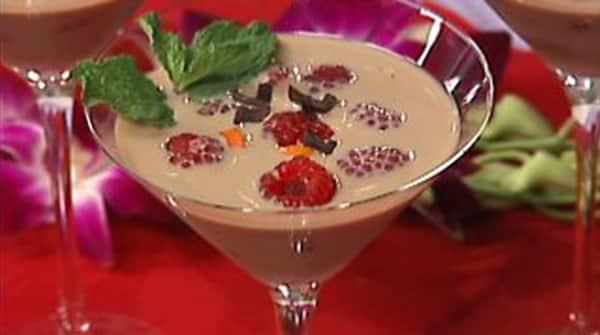 Martini de Chocolate con Frambuesas