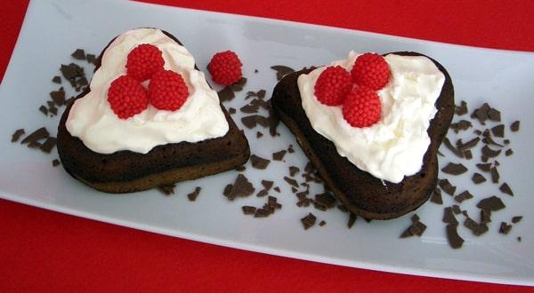 San Valentín - Corazón de Brownies