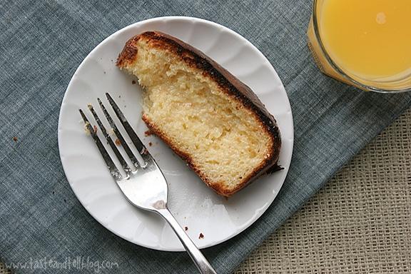 Pan tostado con un toque de leche condensada