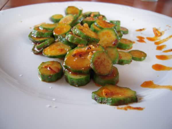 Calabacín con pimentón