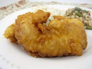 Pollo rebozado en tempura