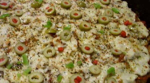 Pizza con base de Carne Molida