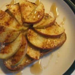Tostada de manzana