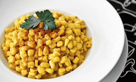 Maíz con un toque de curry