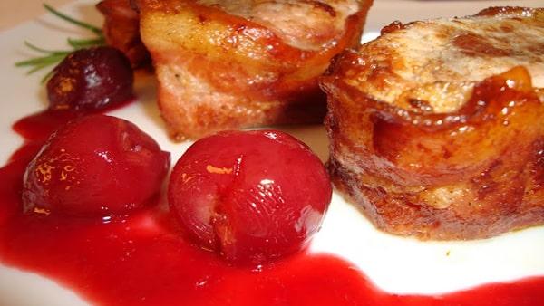 Solomillo de Cerdo con Salsa Agridulce de Cerezas
