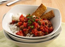 Curry de carne molida