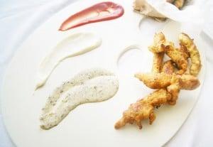 Fingers de pollo con un toque de chimichurri