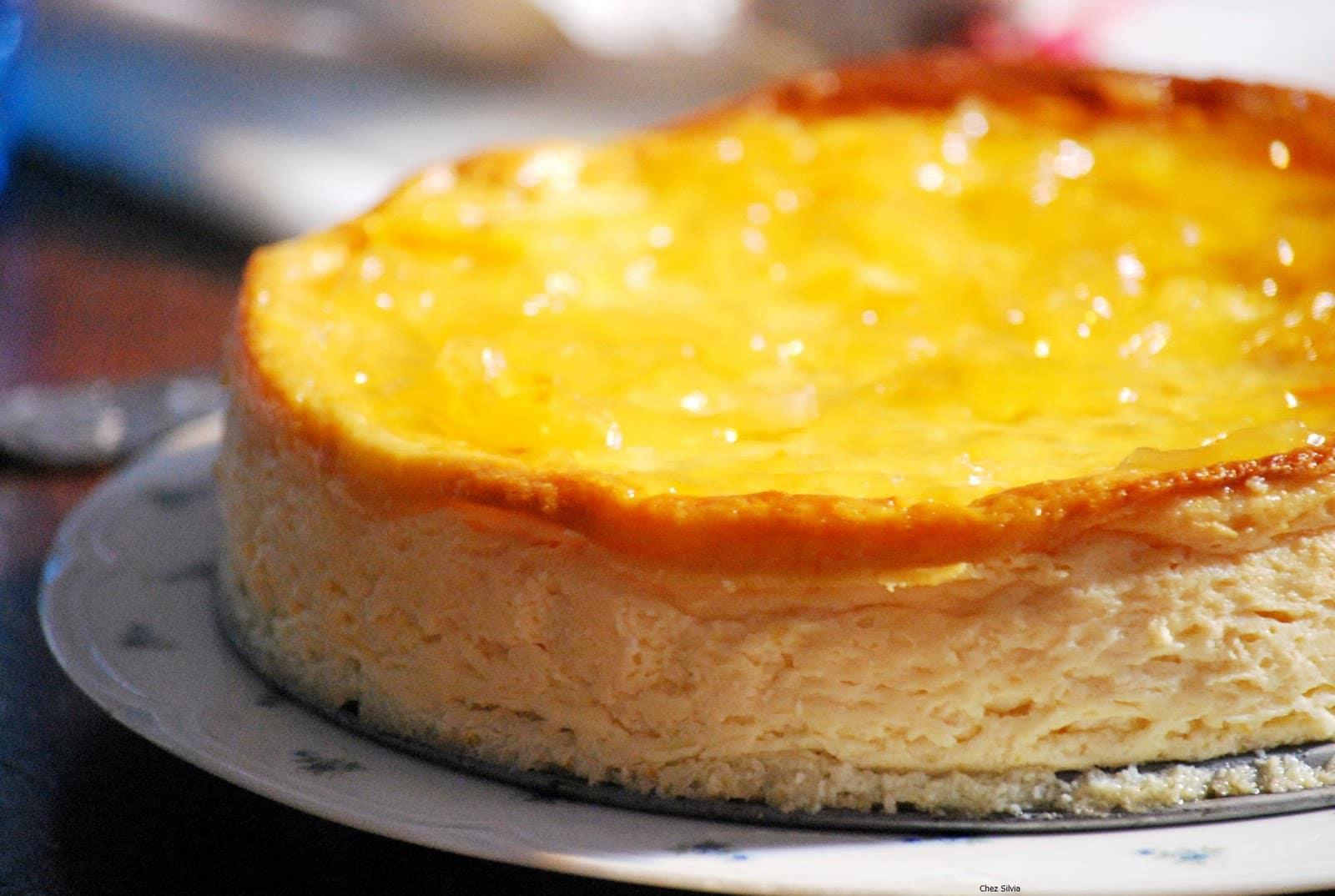 Flan de queso y naranja