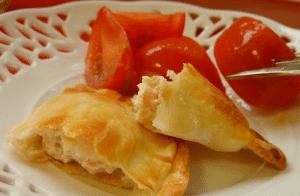 Empanadillas de salmón y queso