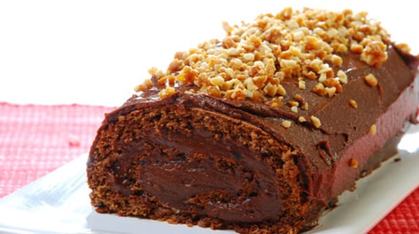 Rollo de Chocolate con Dulce de Leche